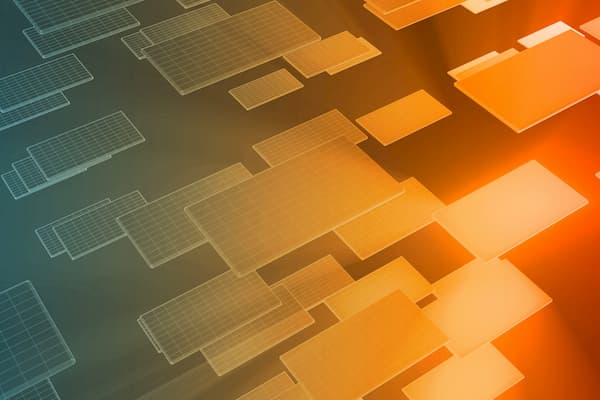 abstract image of flying microprocessors